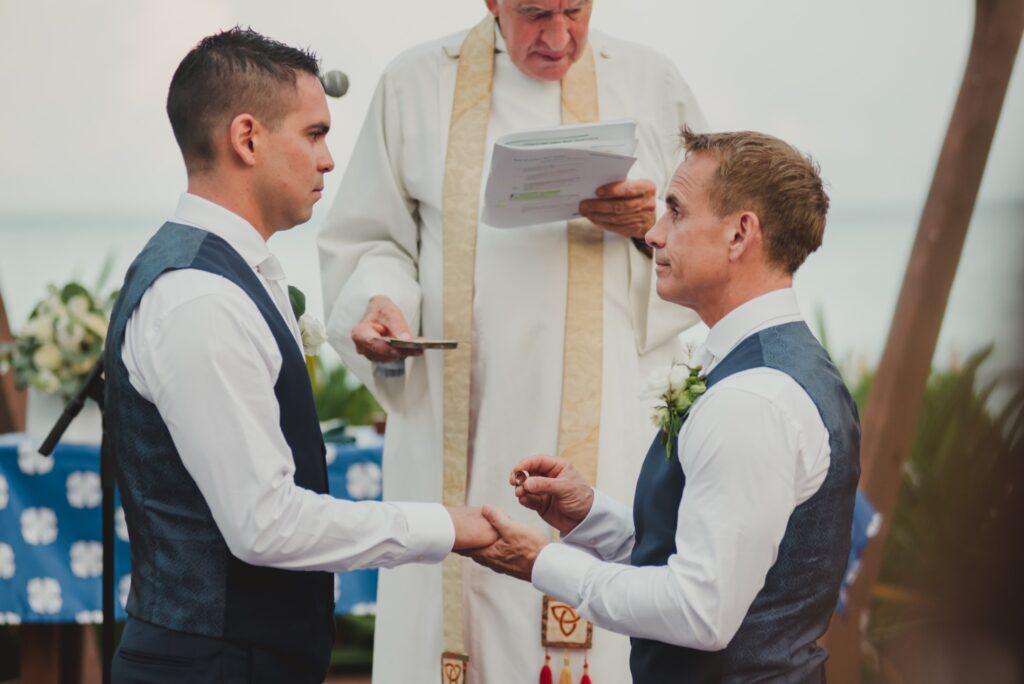 same-sex destination wedding